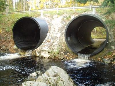 Culverts on Jam Black Brook at Low Water
